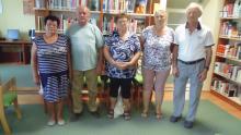 A versenyzők: Horváth Istvánné, Hambalkó József, Monori Györgyné, Bariné Grizák Zsuzsanna, Gajdos Sándor